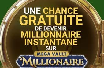1 tour gratuit sans dépôt au Mega Vault Millionaire