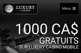 Luxury Casino est recommandé pour la roulette et le blackjack