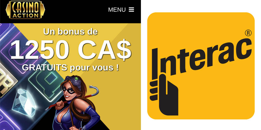 Casino Action est un site de Gambling qui accepte la carte Interac au Canada