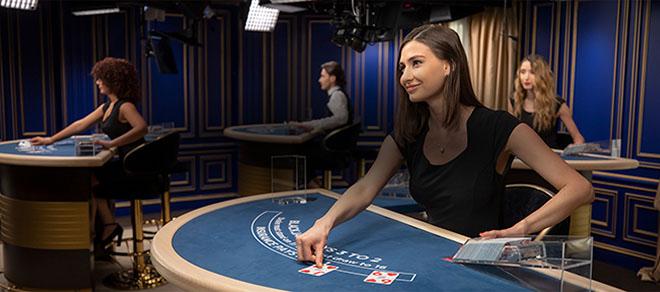 Live croupier au blackjack en ligne