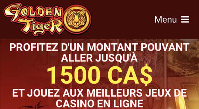 Le site Golden Tiger Casino