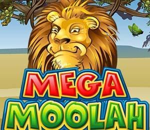 Le logo du jeu Mega Moolah