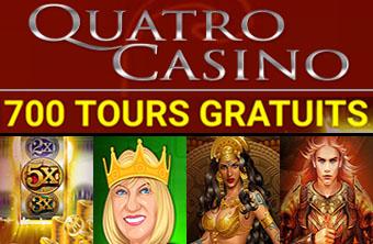 Quatro Casino - 700 tours gratuits
