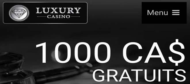 Luxury au Canada - Un casino légal