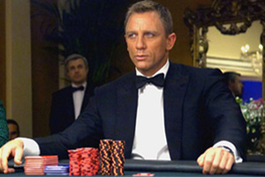 James Bond gagne au casino
