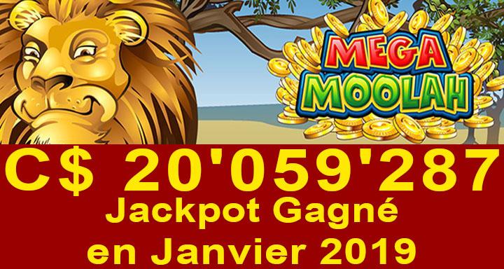 Record de jackpot gagné au casino du Canada