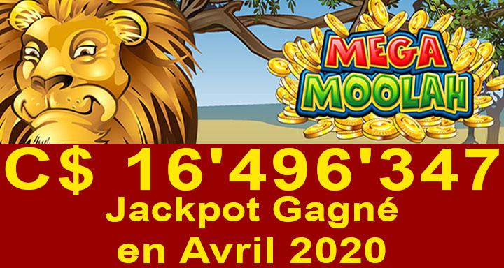Gain Mega Moolah chez Jackpot City