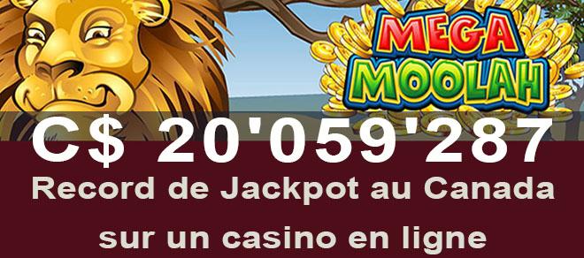 Jackpot gagné au Canada chez Zodiac Casino