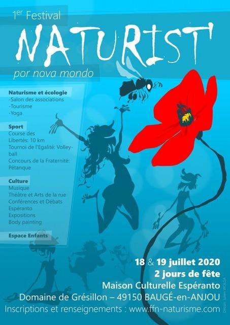 Premier Festival Naturiste FFN les 18 & 19 juillet 2020 @ Domaine de Grésillon à Baugé-en-Anjou (FR)