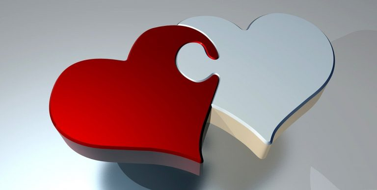 puzzle, heart, love