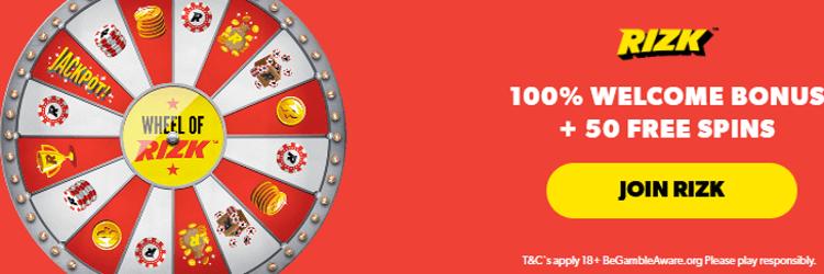 Rizk Casino: 1 Free spins no deposit on Wheel of Rizk