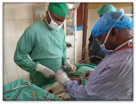 Famulatur in Kikwit. Dutzende Operationen gehören zum Alltag.