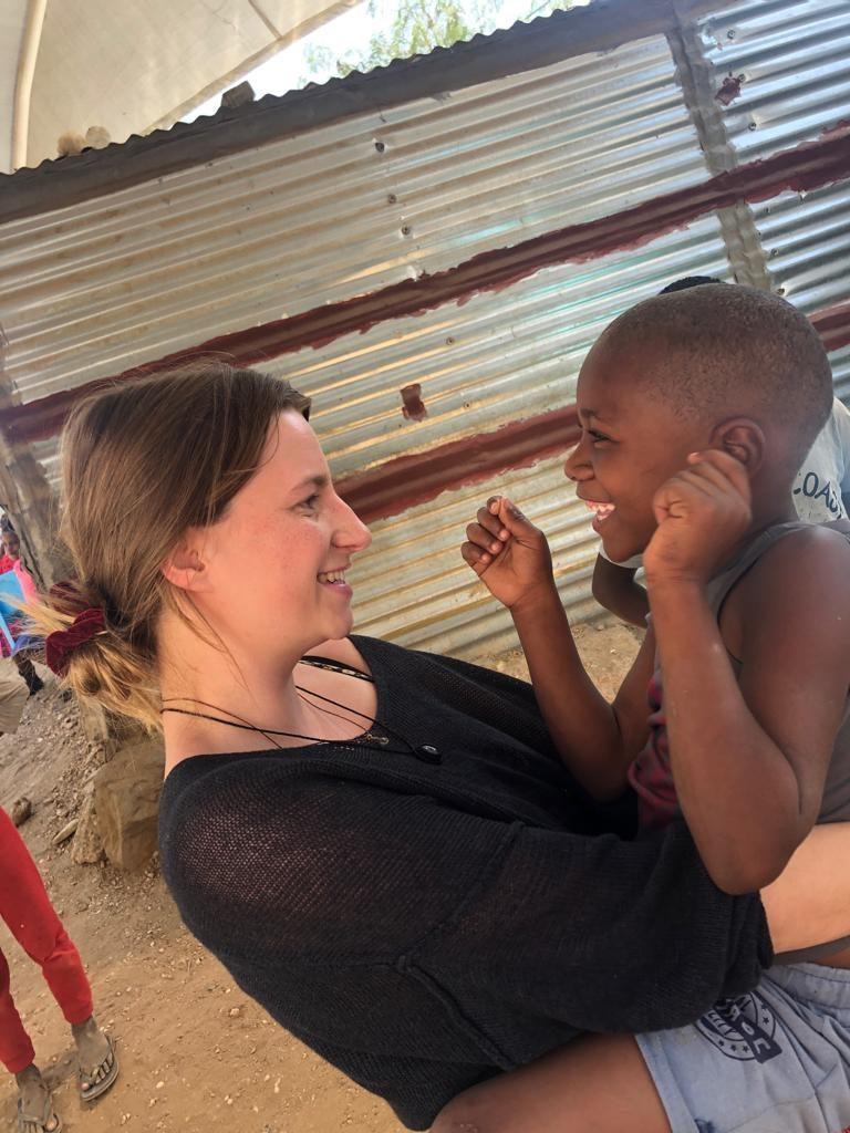 Alina und Kind in Katutura