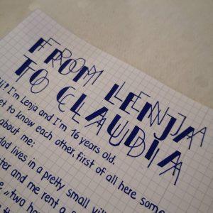 Lenja-Brieffreundschaft
