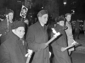 Olof Palme Marching Against The Vietnam War 1968