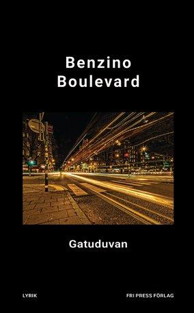 BILD: Omslag Gatuduvans 'Benzino Boulevard' en stad med strålande gatuljus