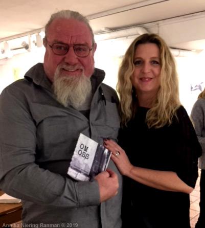 Bild: Bo Ranman och Lotta von Mentzer vid releasen 26 januari 2019 på Galleri Engleson i Göteborg