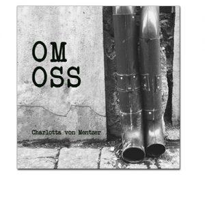 Bild: Omslag till Charlotta von Mentzers diktsamling 'Om oss' utgiven på Fri Press förlag januari 2019, bakgrunden är en grundmuren från en husfasad med två stuprör som mynnar ut i rännstenen