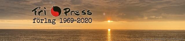 BILD: Solnedgång över Öresund med Fri Press logotyp foto: Niklas Stridh