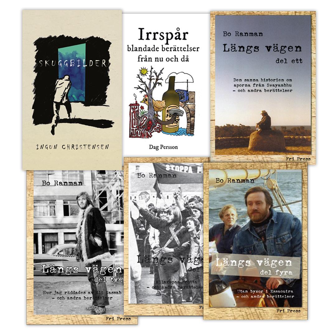 BILD: sex böcker med noveller