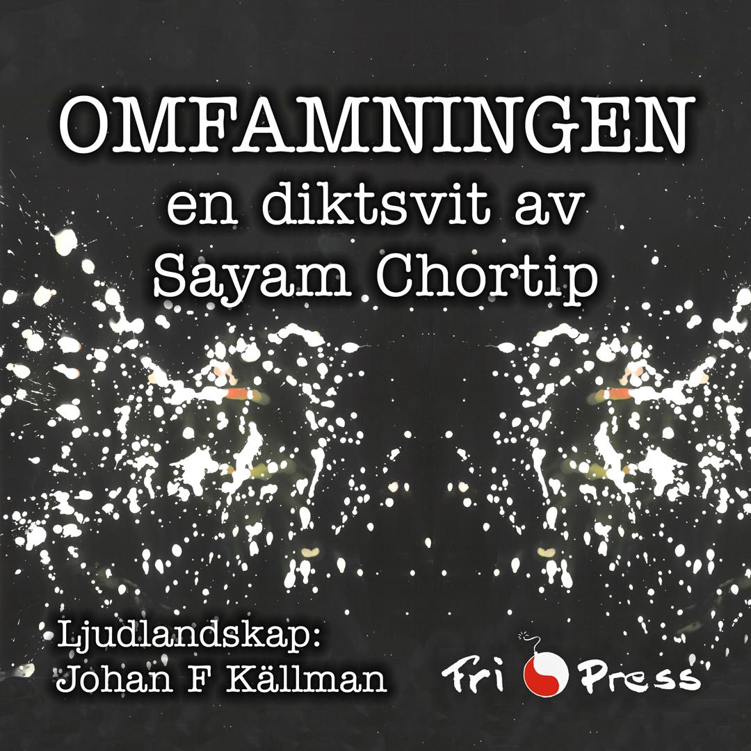Omslaget till 'Omfamningen' en diktsvit av Sayam Chortip