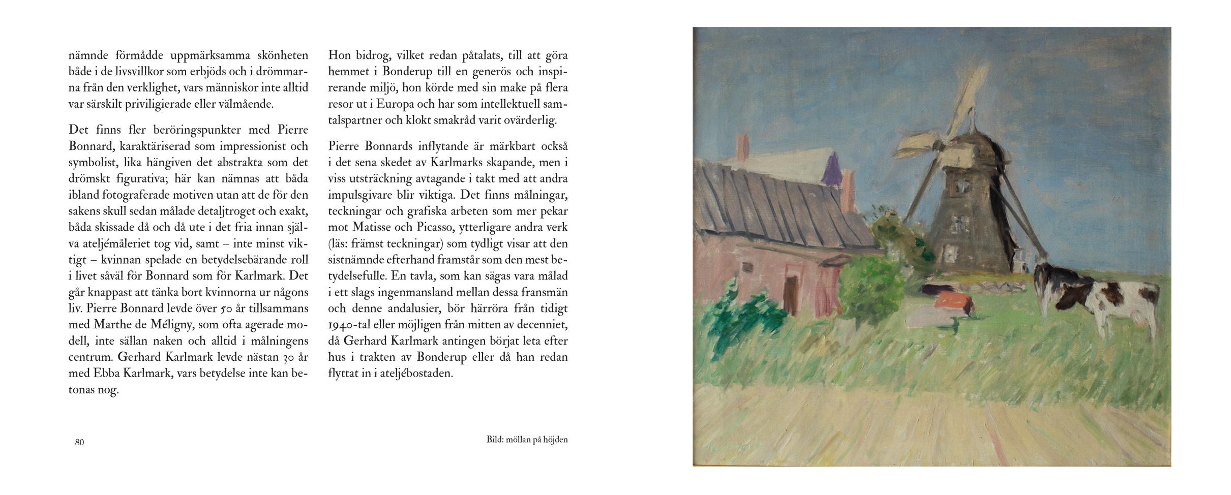 Uppslag ur boken 'Gerhard Karlmark – ett konstnärsliv' av Michael Economou (sid 80-81)