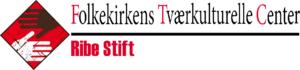 """FTC logo med tekst """"Folkekirkens Tværkulturelle Center - Ribe stift""""."""