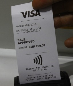 visa wireless phone payment kvitto reciept