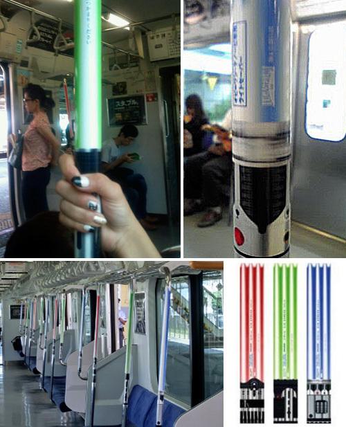 laser sabers on subway
