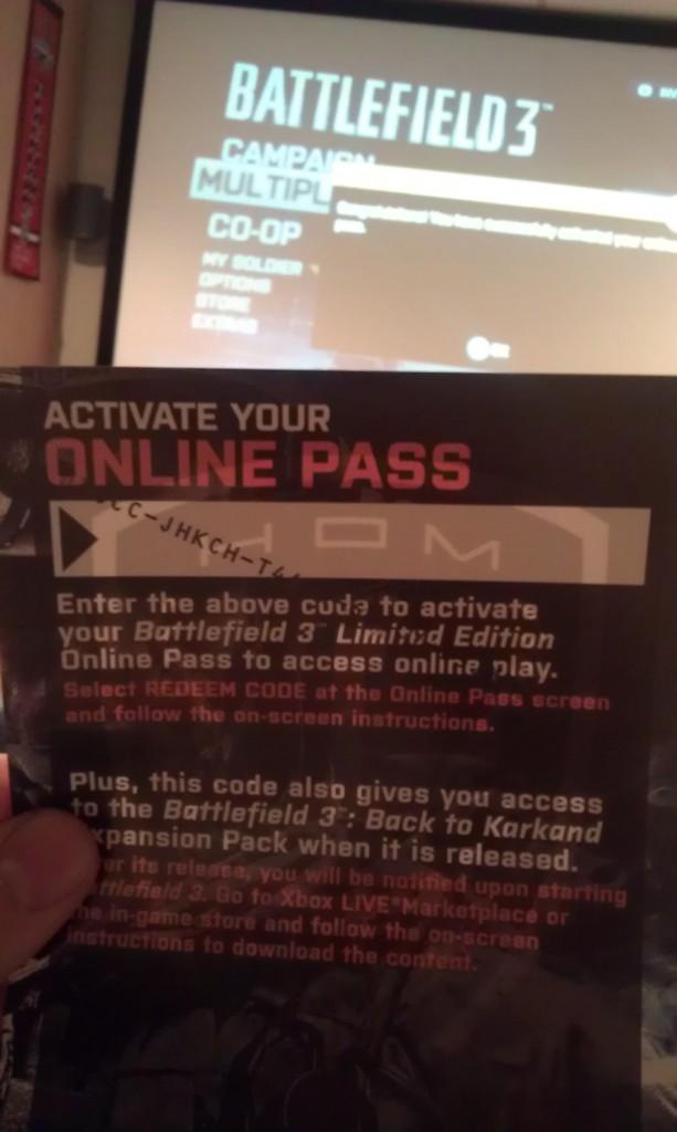 Battlefield 3 online pass funny