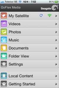 goflex media screenshot