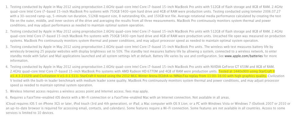 scII in macbook pro apple fine print
