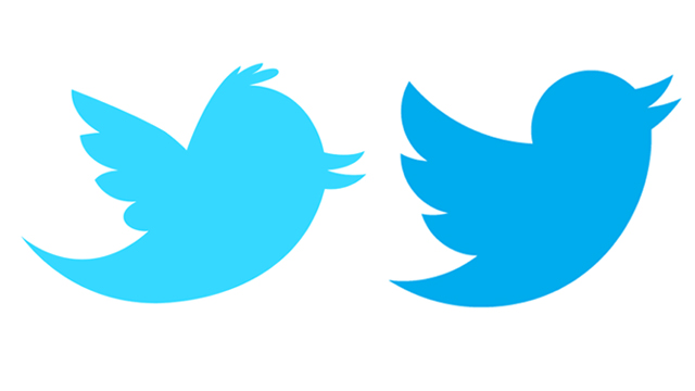 twitters new and old logo
