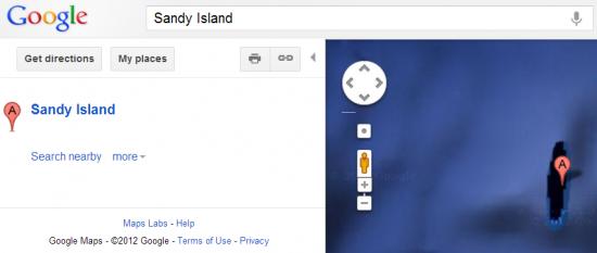 sandy island google maps earth screenshot satelite