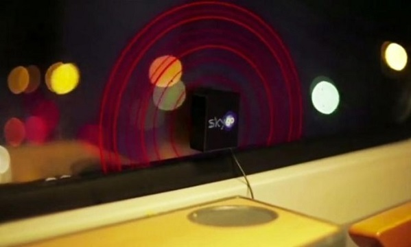window vibrating train ads