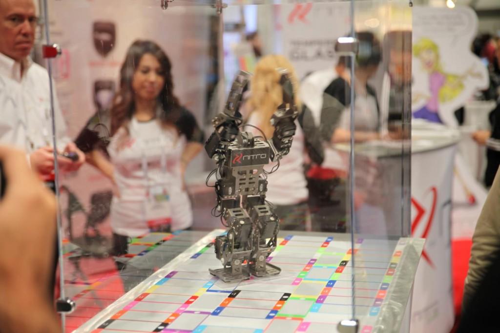 robot dancing on screen protectors