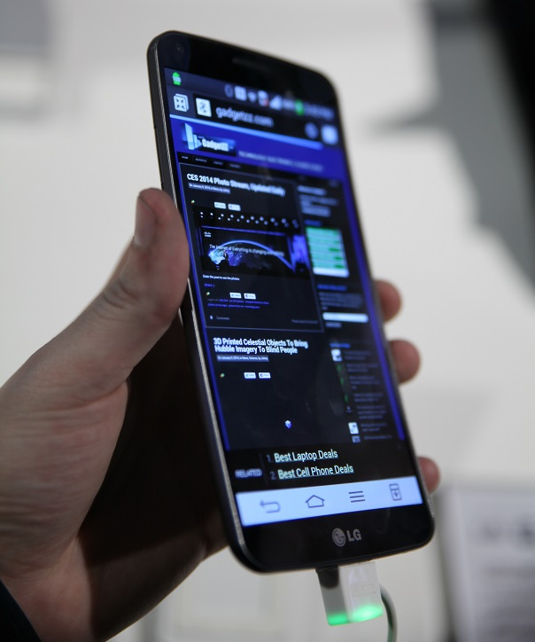 LG curved android phone