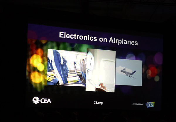electronics on airplanes CEA