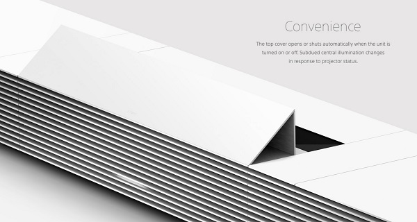 Sony 4k short throw projector folds up