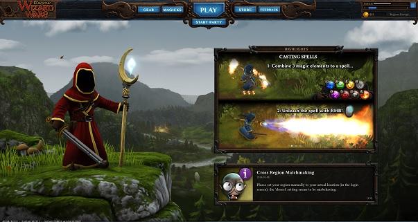 Wizard Wars Title Screen