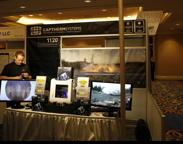 Captherms booth at the CES 2014