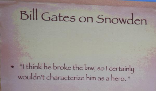 bill gates on snowden
