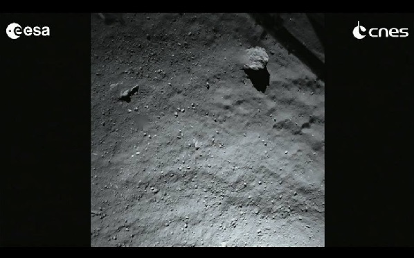 philae comet 67p landing site from lander