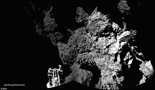 rosetta philae photo surface