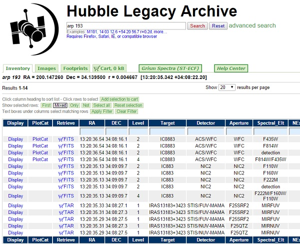 hubble archive how to