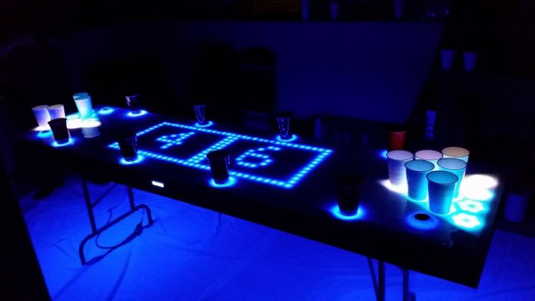 beer pong table led
