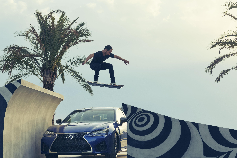 lexus hoverboard jump car