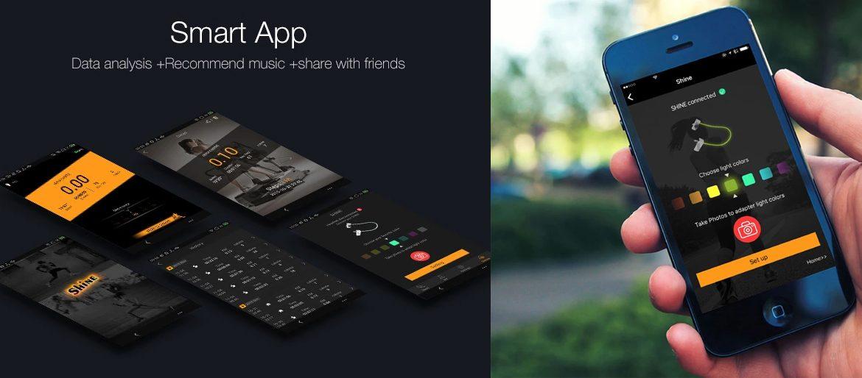 shine earbuds smart app