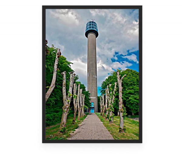 Cloostårnet Frederikshavn toon mock up, cloostårnet frederikshavn Frederik Tobar Karlsen Galleri7 Plakat Poster, cloostårnet frederikshavn Frederik Tobar Karlsen Galleri7 Plakat Poster, foto plakat af Cloostårnet, som er 60 m højt