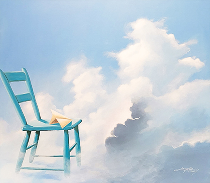 stol himmel Kunstner Jan Janus Pedersen Langthjem Sæby Malerier maler kunst lokalt nordjylland frederikshavn galleri i sæby skagen dronninglund